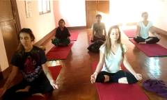 Yoga session in indoor  » Click to zoom ->